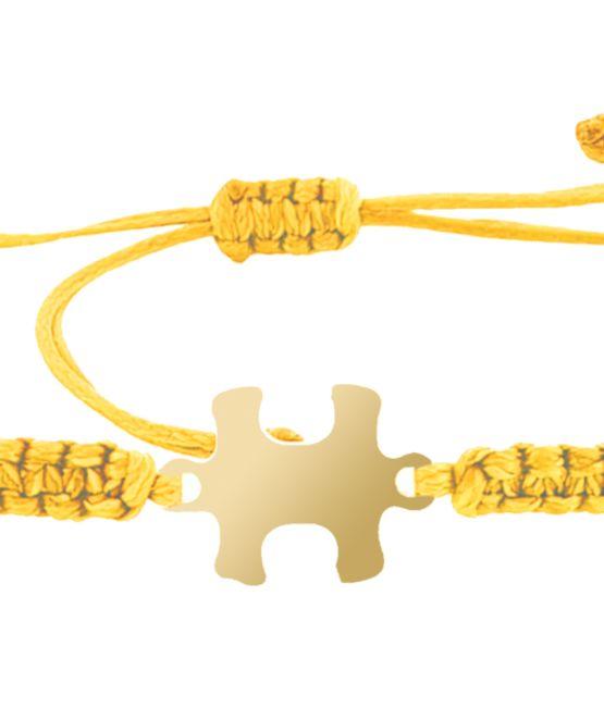 צמיד הפאזל שלנו - צהוב, בציפוי זהב