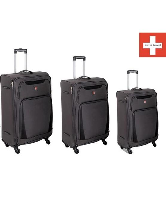 מעולה  סט מזוודות swiss travel-מקורי (היזהרו מחיקויים)   carrybag YE-09
