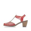 - Rieker Damen Sandaletten rubinrot