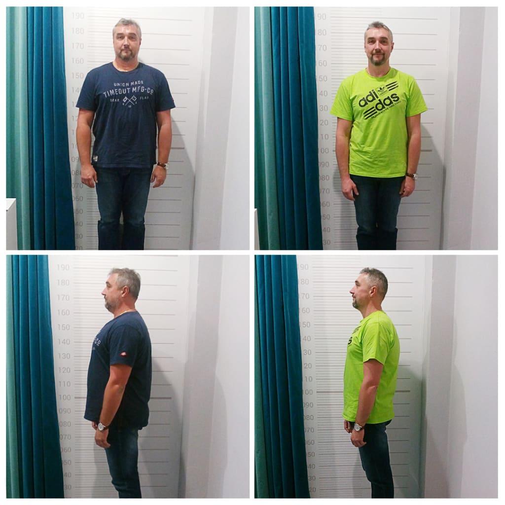 Před a po hubnutí Michala