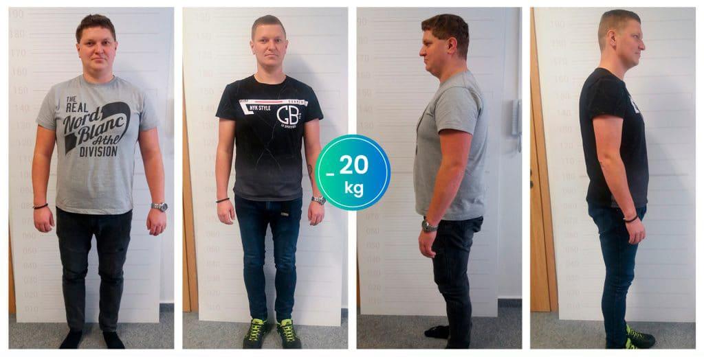 Marek H. schudol 20 kg za 3 mesiace
