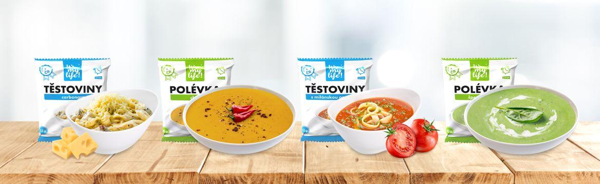 Nová proteinová jídla – těstoviny a polévky