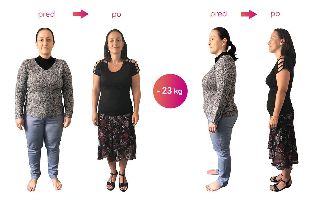 Za 3 mesiace som schudla na váhu 71 kg