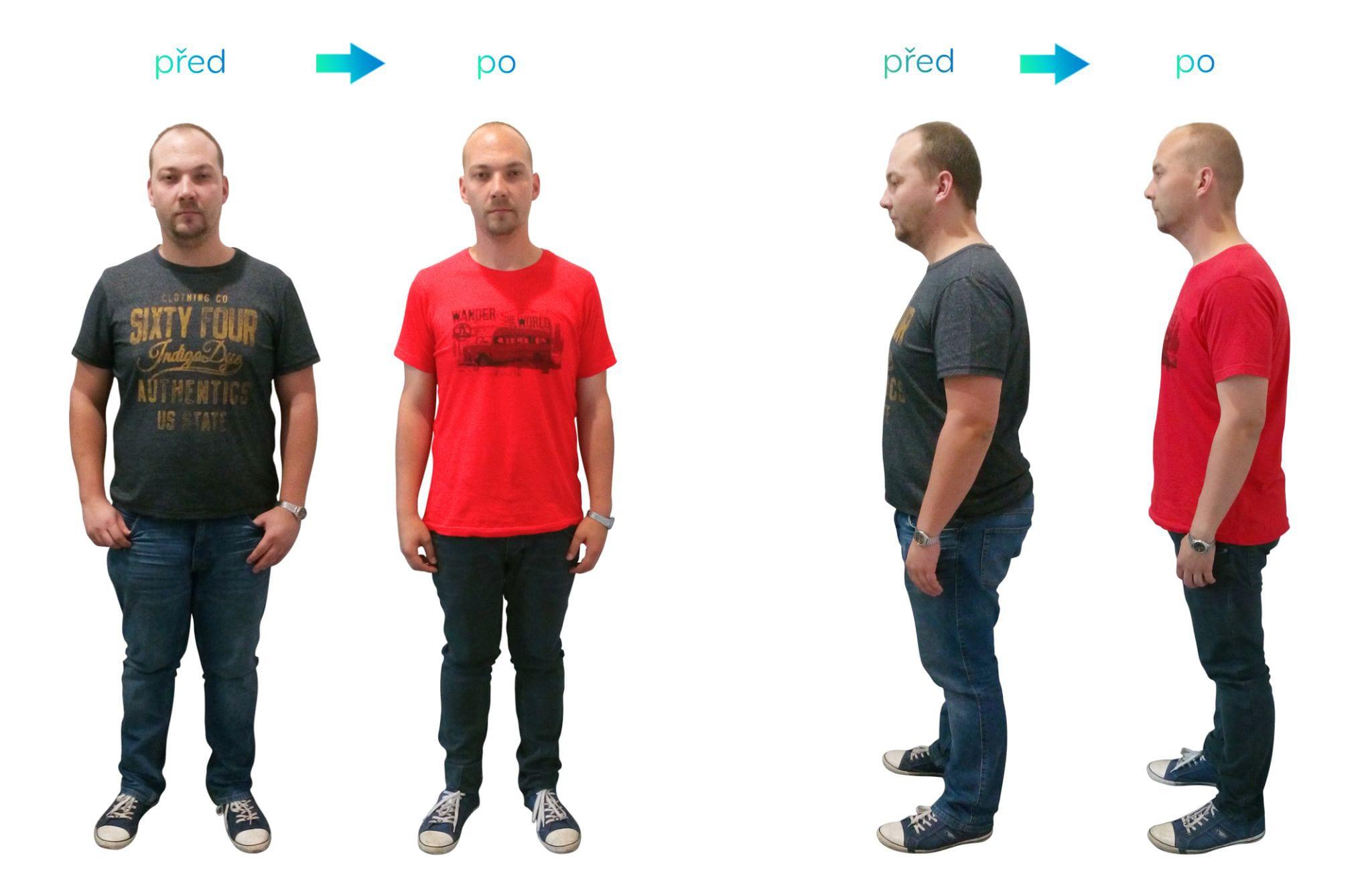 I přes těžší začátky Ondřej zhubnul více, než 26 kg