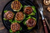 Burger portobello s hovězím masem