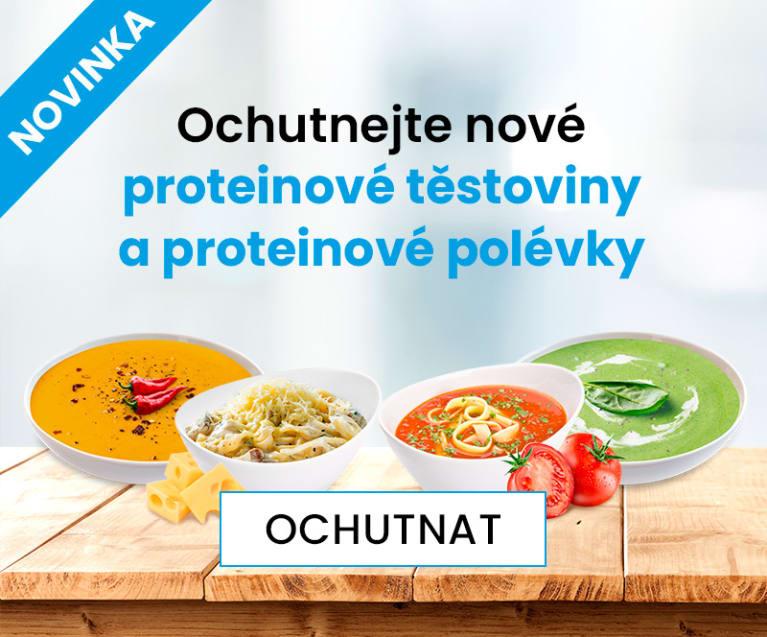 Novinka - proteinové polévky a těstoviny