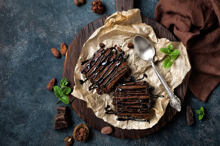 Zdravé Low Carb kakaovo-jogurtové řezy