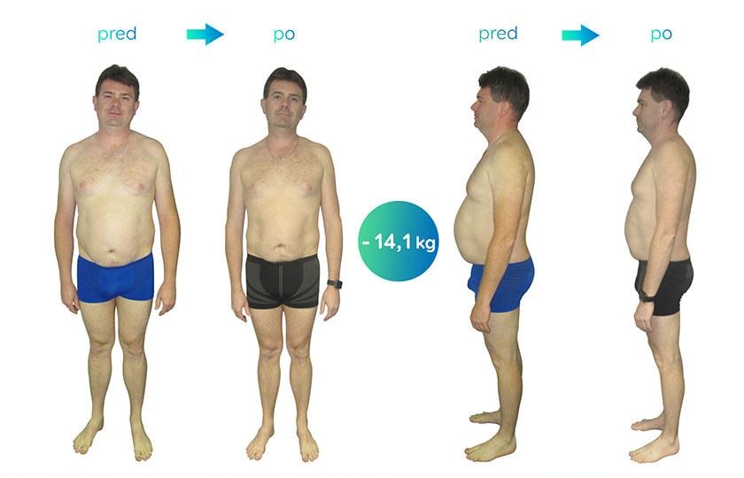Po prvom týždni som bol milo prekvapený schudnutými kilogramami