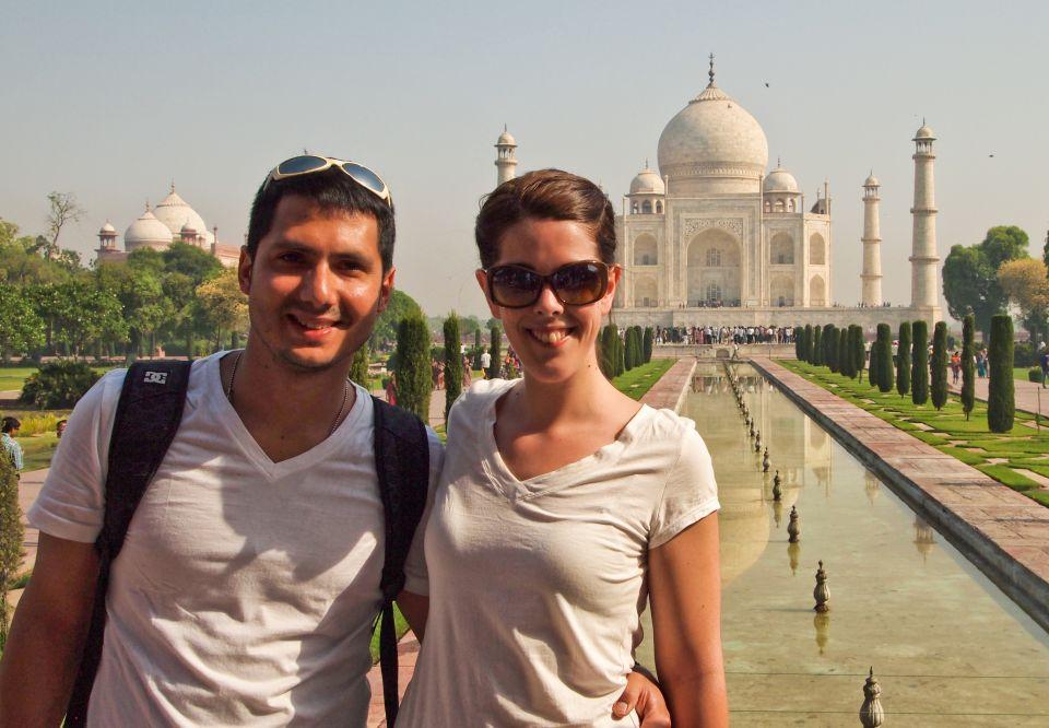 en el Taj Mahal