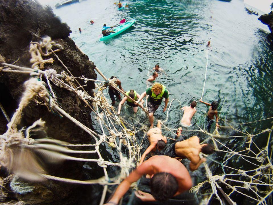 Foto subiendo hacia Maya Bay