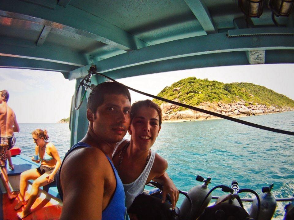 De camino a la primera inmersion en el mar