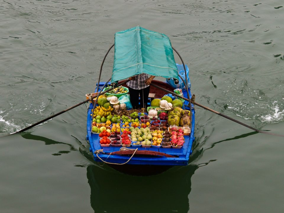 Vendedores de Ha Long