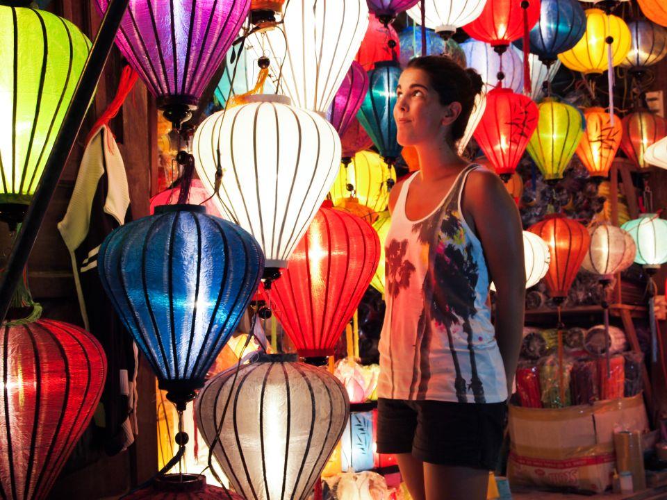 Lámparas de seda