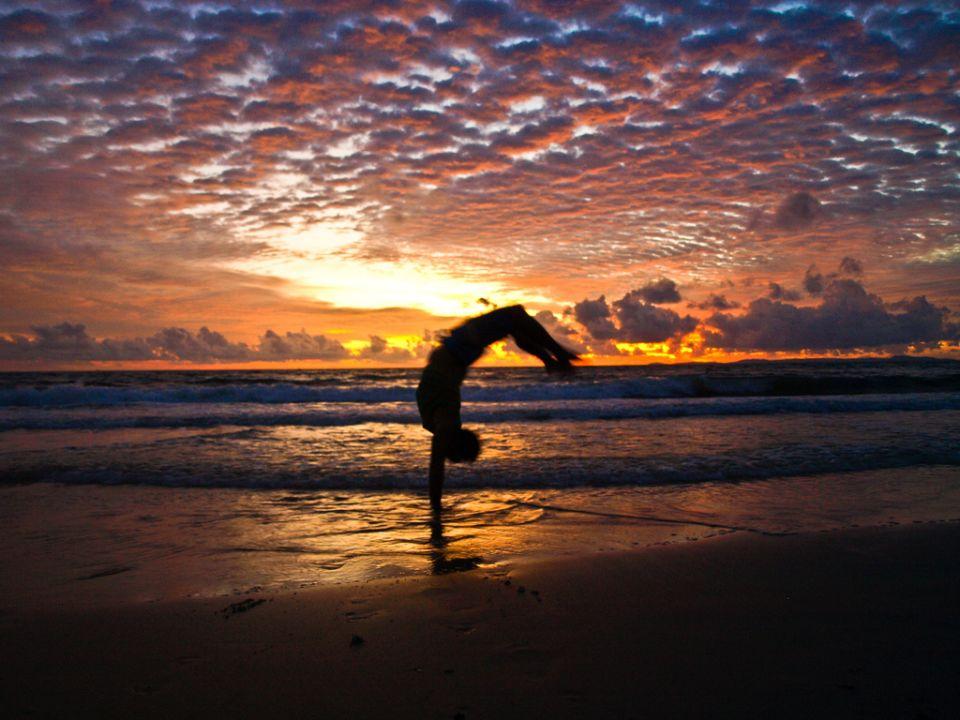 Sunset en Otres Beach