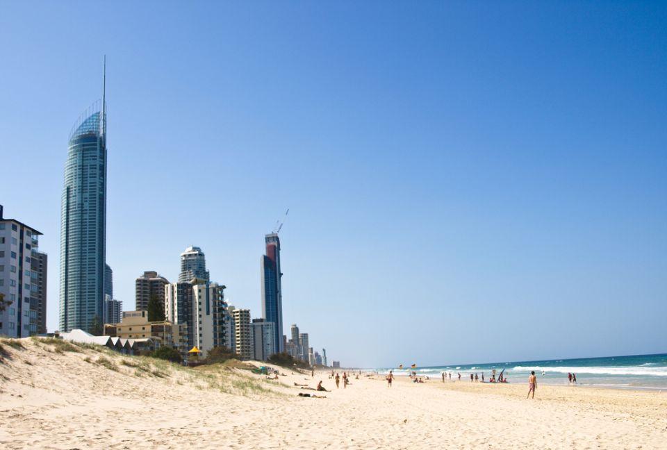 Rascacielos en la playa