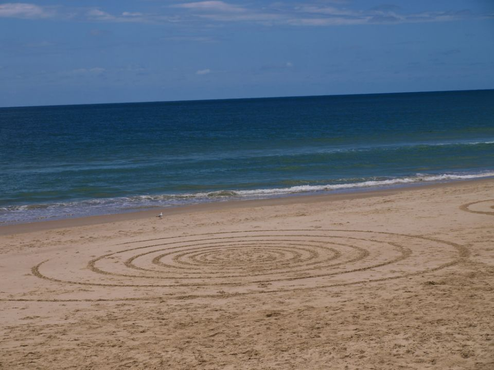 Formas en la arena