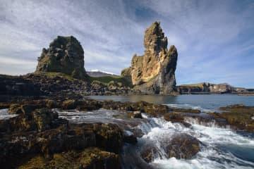 Londrangar basalt cliffs in Snaefellsnes