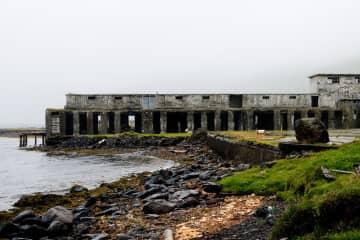 The deserted Herring Factory in Ingólfsfjörður