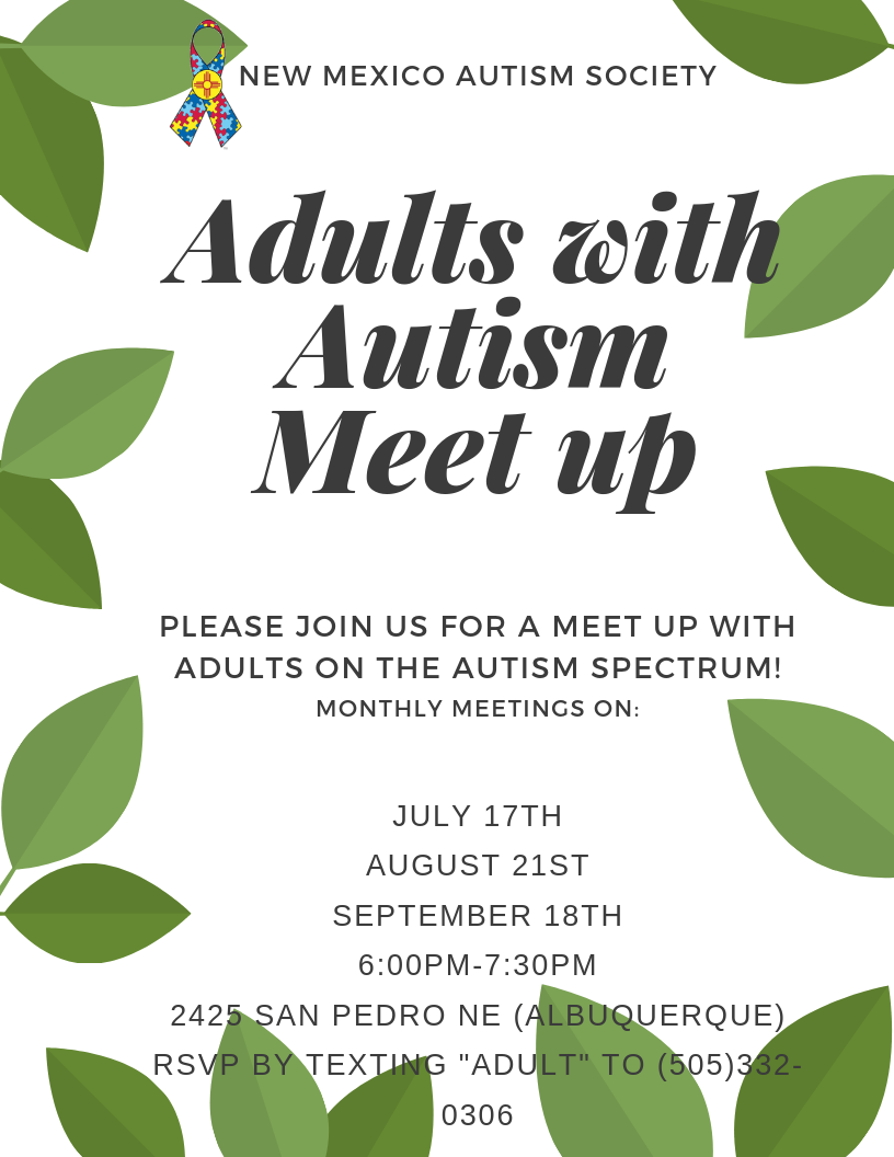 Adults with Autism Meet Up Image