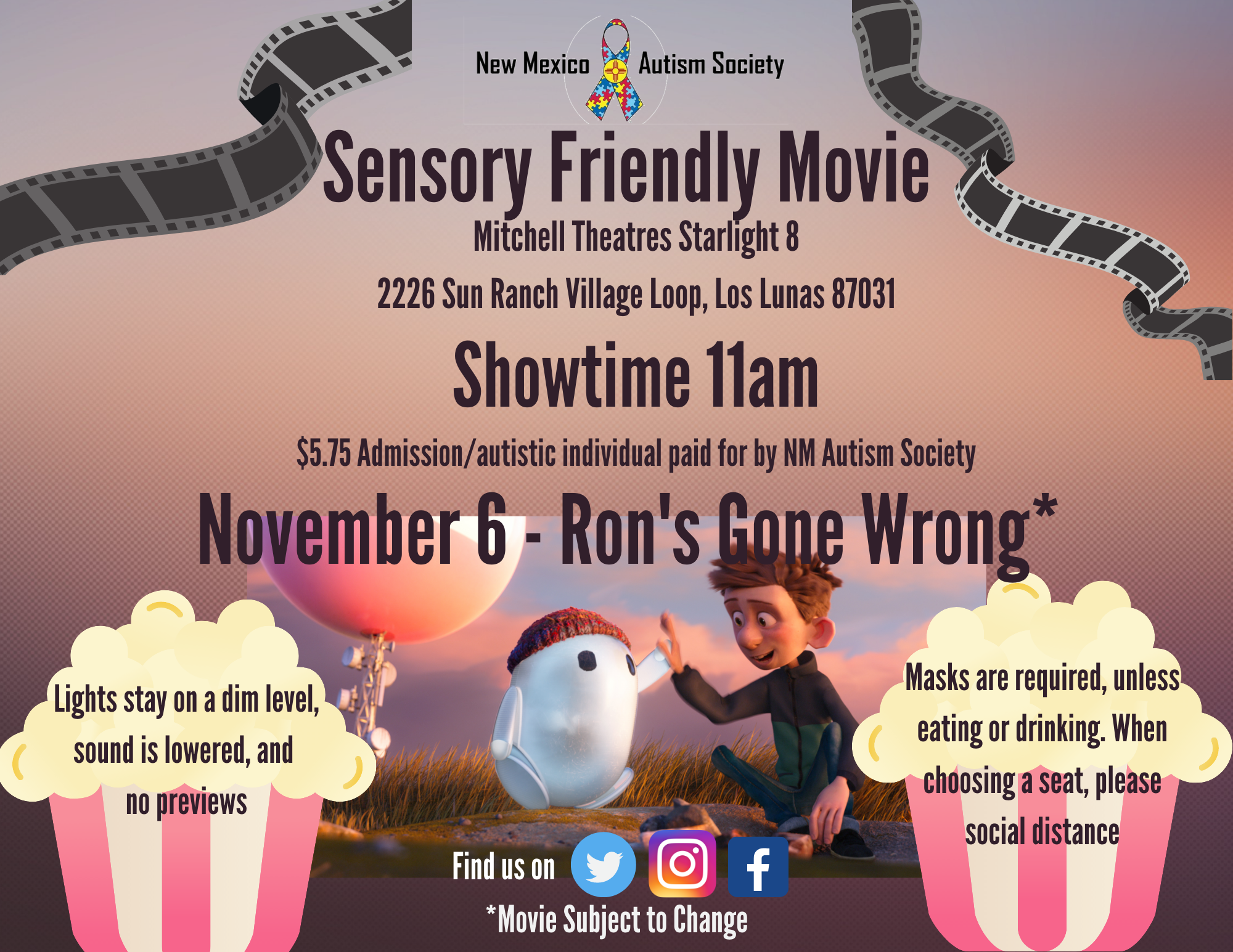 Sensory Friendly Movie - Ron's Gone Wrong Image