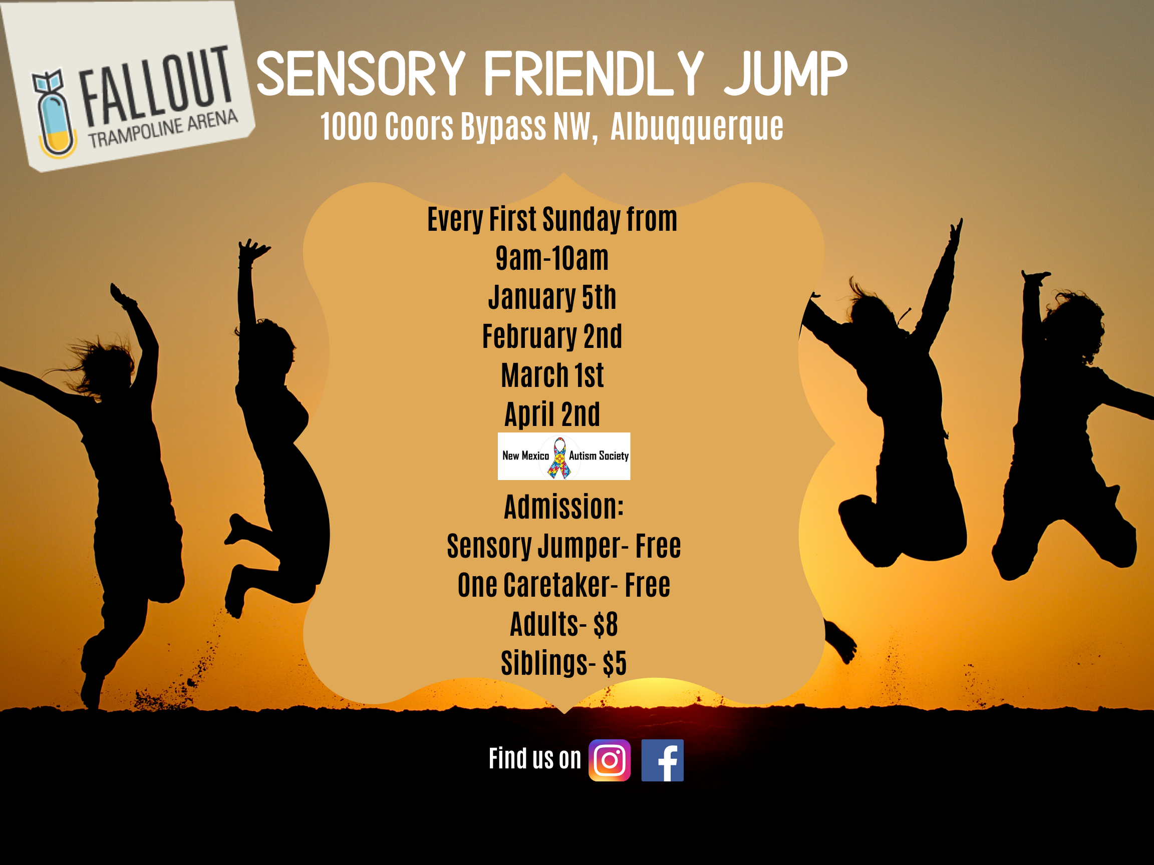Sensory Friendly Jump at Fallout Trampoline Arena Image