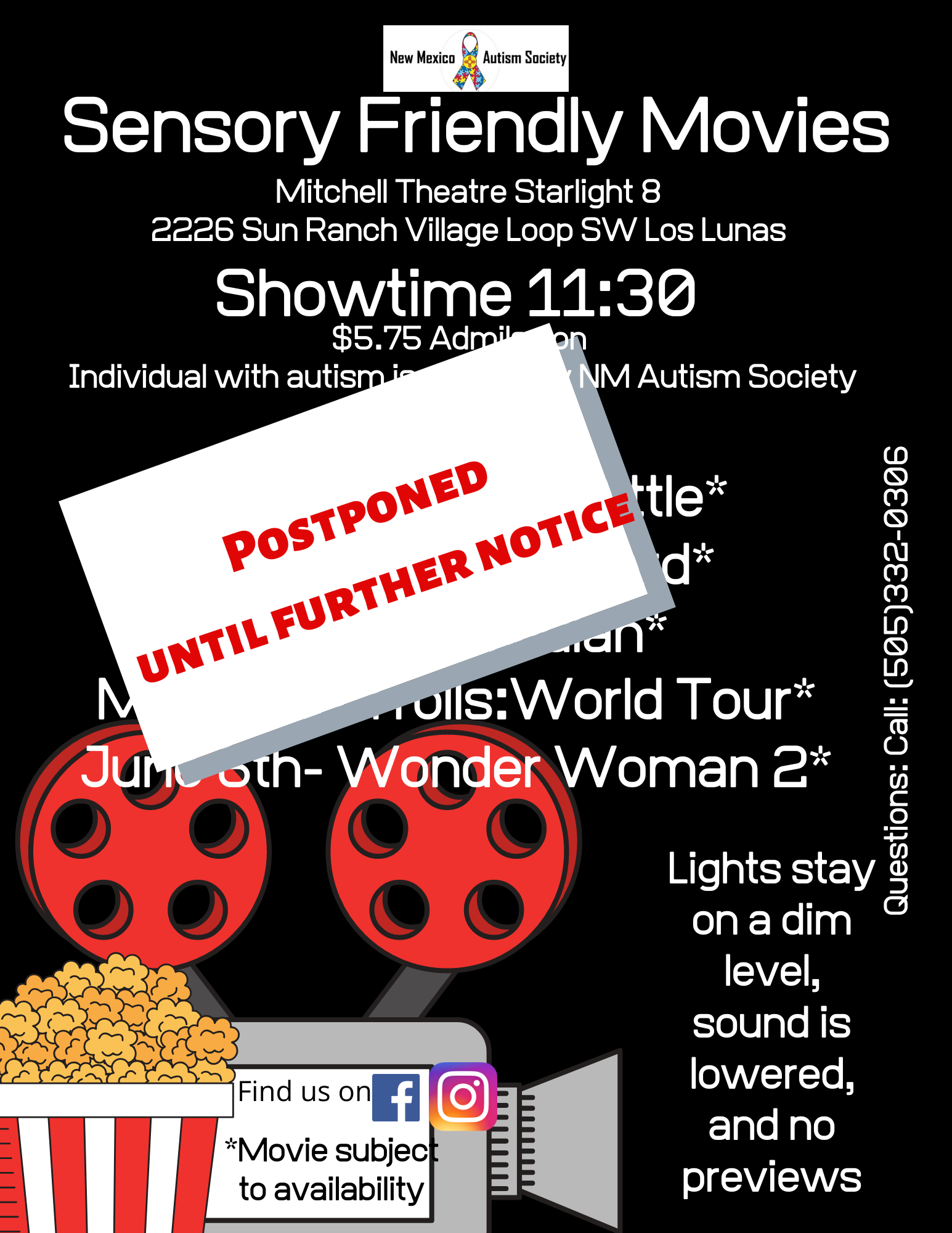 Sensory Friendly Movie- Mulan- Postponed Until Further Notice Image