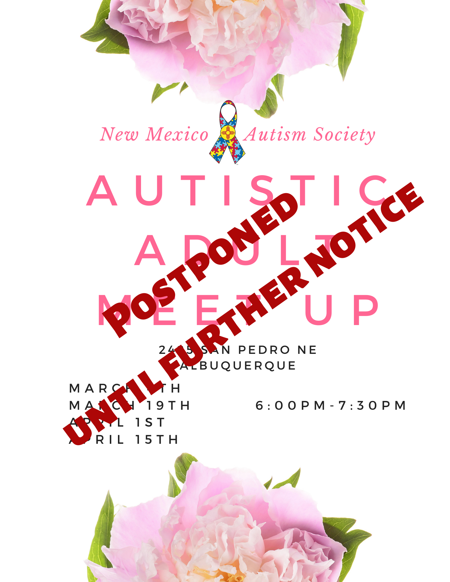 Autistic Adult Meet Up- Postponed Until Further Notice Image