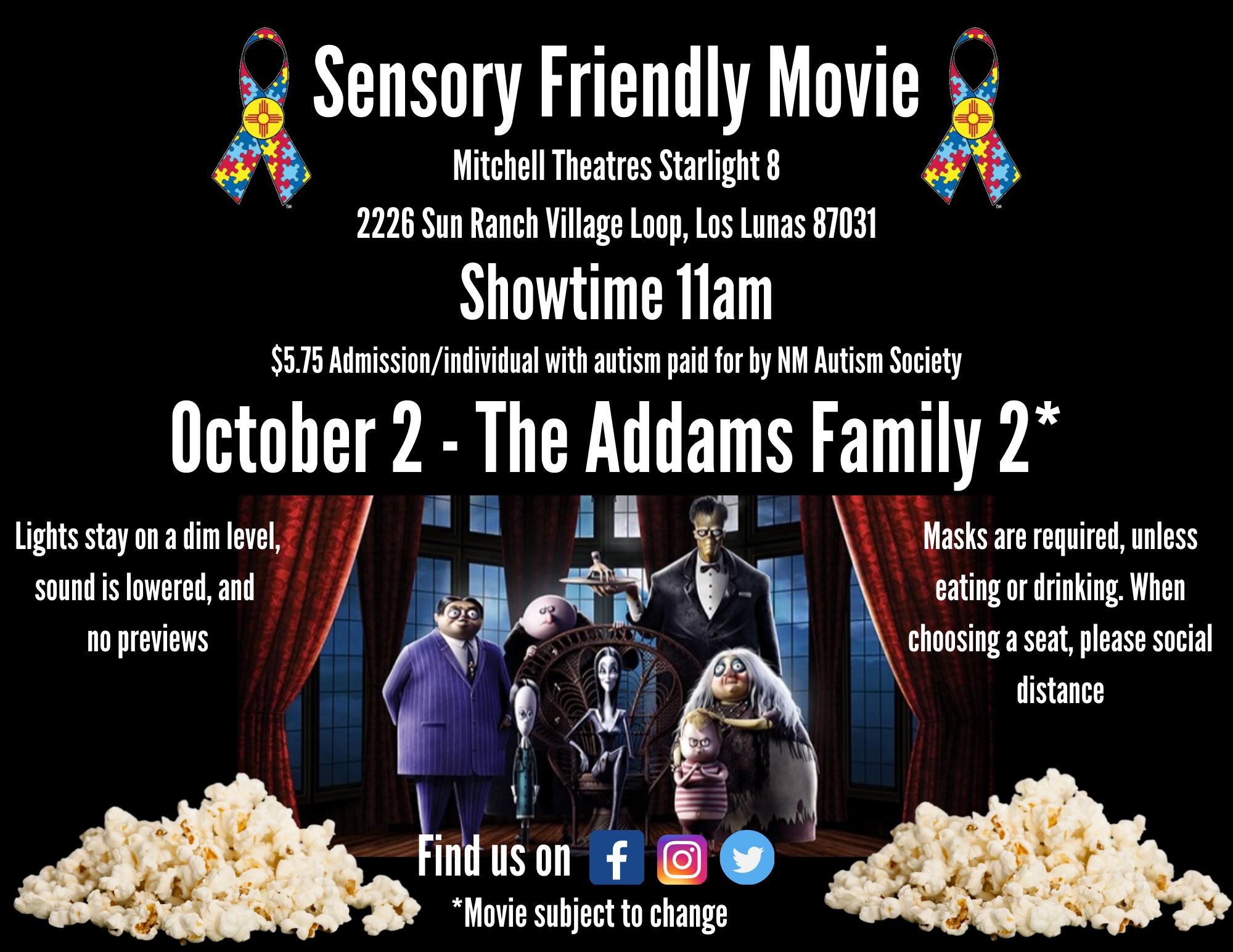 Sensory Friendly Movie - The Addams Family 2 Image