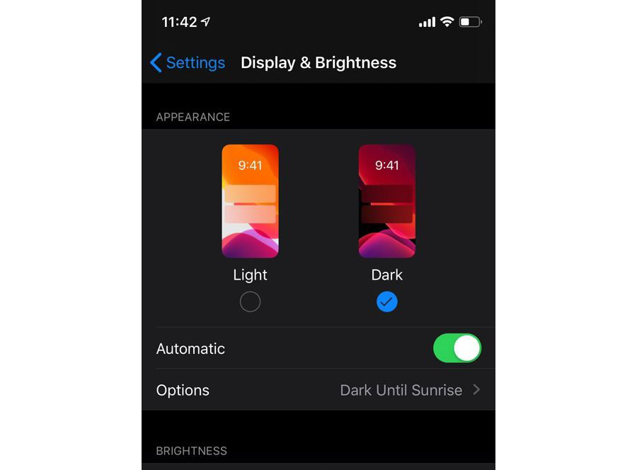 Enable Dark Mode iOS