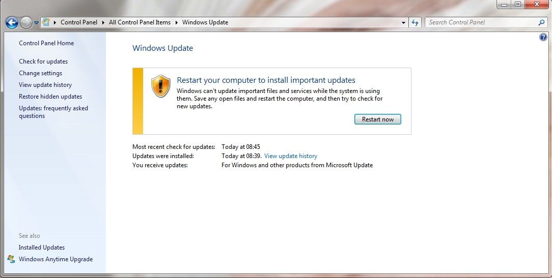 Windows Update kb3058515