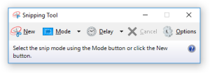 Windows 10 snipping tool