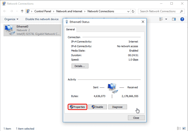 close ipv6 in Windows