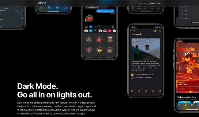 dark mode Instagram iOS