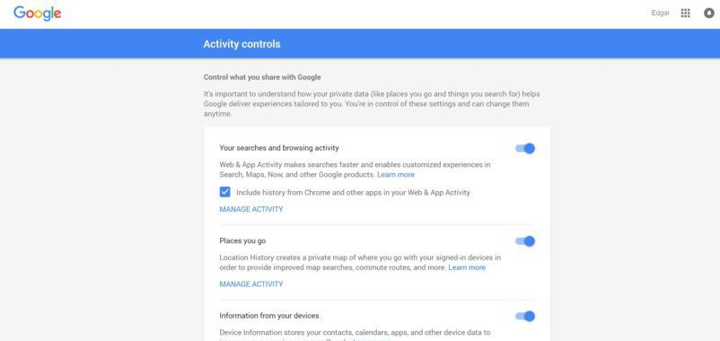 Personal Activity Information
