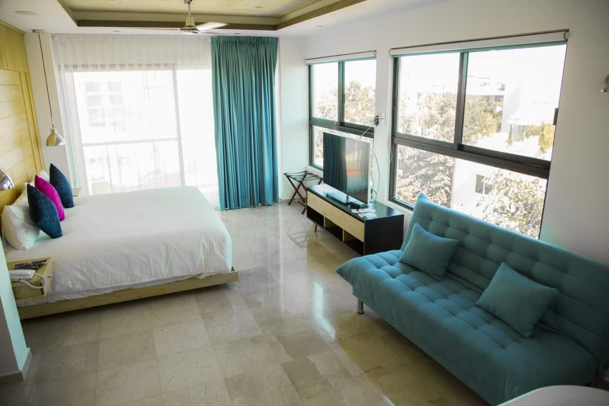 Rooms of Hotel Soul Beach in Playa del Carmen