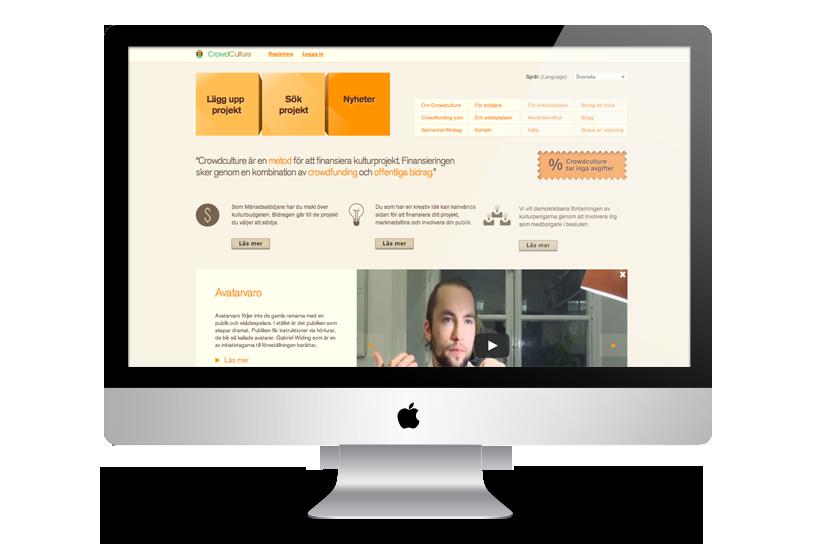 Microfinancing site - CrowdCulture