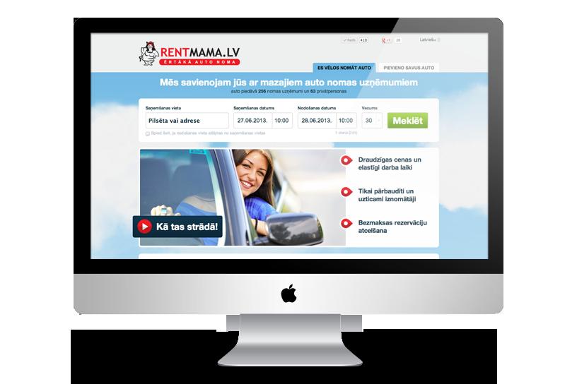 Car rental portal - RentMama.com