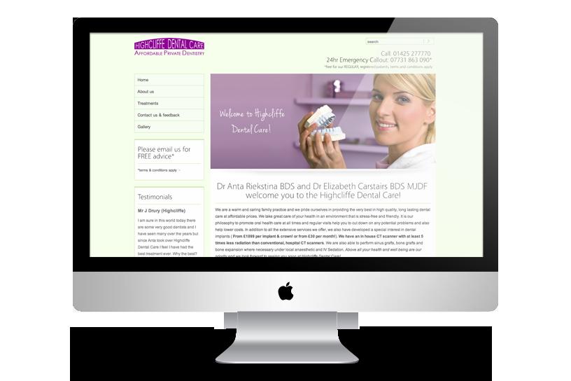 Website - Highcliffe dental care