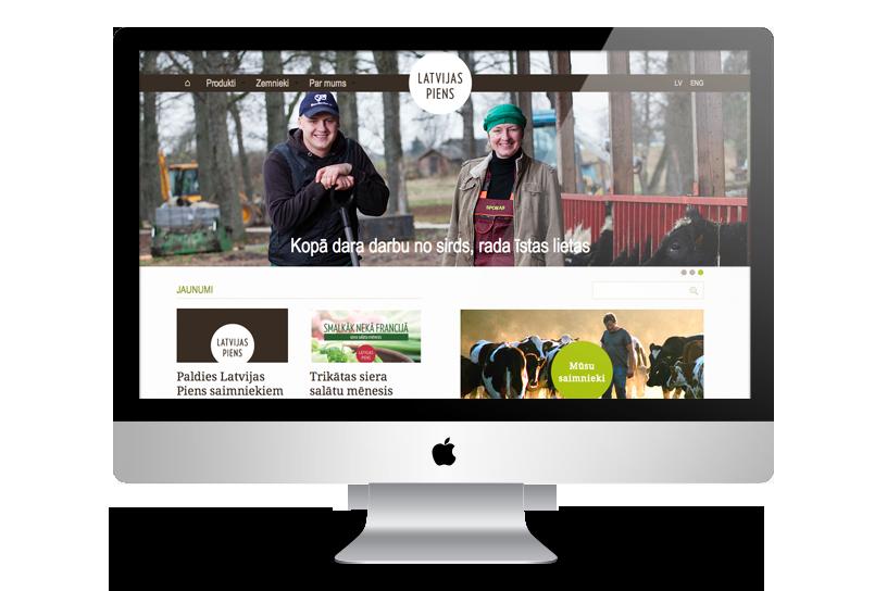 Responsive website - Latvijas piens