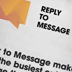 Web aplikācija - Reply to message