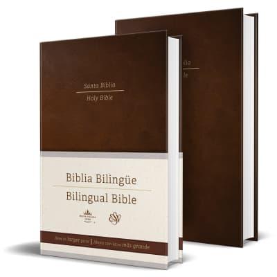 Biblia Bilingüe Reina Valera 1960/ESV Tamaño grande letra grande tapa dura marrón by Reina Valera Revisada 1960, ENGLISH STANDARD VERSION