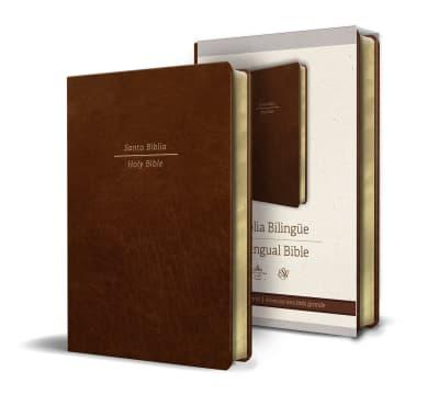 Biblia Bilingüe Reina Valera 1960/ESV Tamaño grande letra grande piel marrón by Reina Valera Revisada 1960, ENGLISH STANDARD VERSION