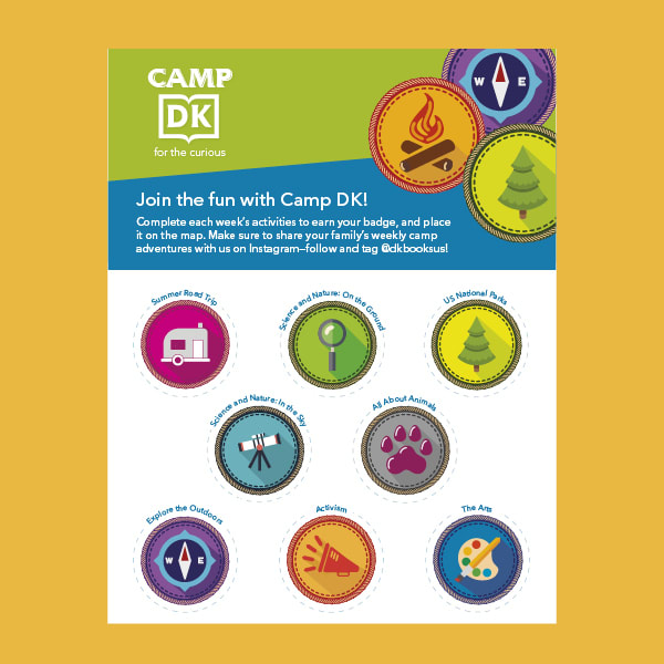 An image of DK's downloadable camp badge sheet