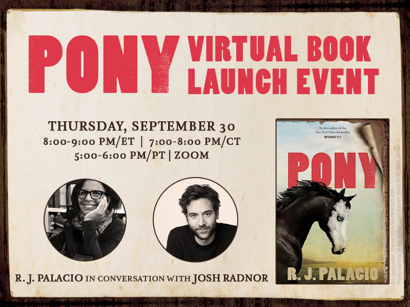 Pony Virtual Book Launch Event