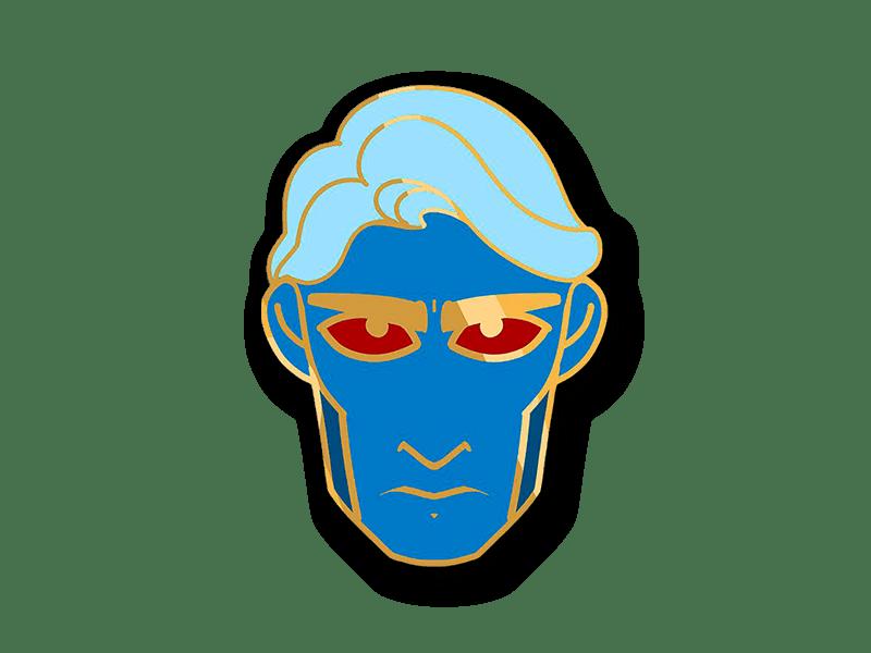 Grumpy Hades enamel pin