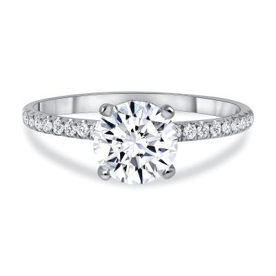 pave diamond engagement ring white gold