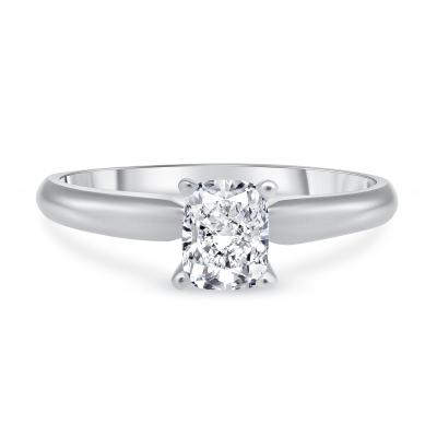 cushion cut diamond engagement ring white gold