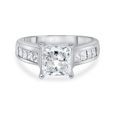 2ct princess cut diamond engagement ring white gold