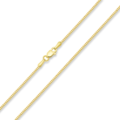 Solid 14k Yellow Gold Diamond-Cut 1.2mm Square Franco Chain Necklace with Lobster Claw Clasp