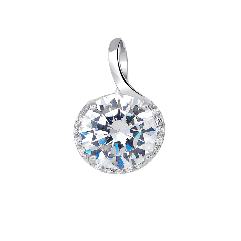 Sterling Silver Round Pendant